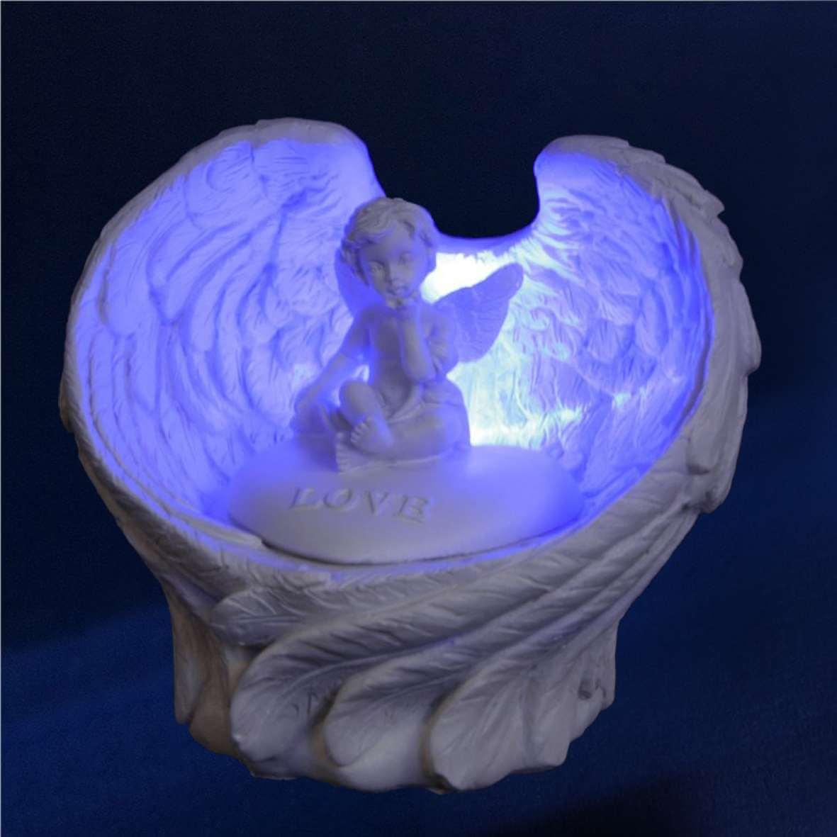 ange avec lumiere ange lumineux ange lampe. Black Bedroom Furniture Sets. Home Design Ideas