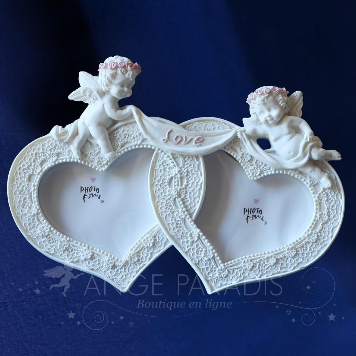 cadre photo ange original pour mariage bapteme communion fiancailles. Black Bedroom Furniture Sets. Home Design Ideas