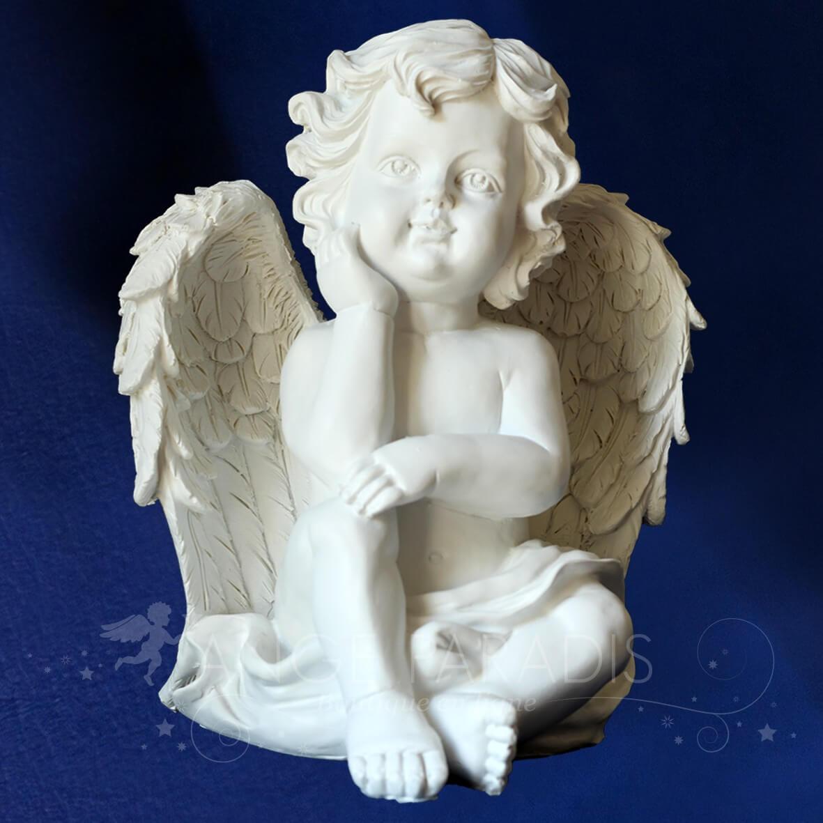 Statue ange dexterieur statuette ange ch rubin pour jardin et d coration - Statue d ange pour exterieur ...