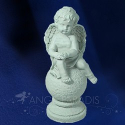 STATUE ANGE PARADIS 40 CM - GRANDE STATUE ANGE BIG ASSISE