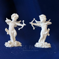 2 FIGURINES ANGES CUPIDON