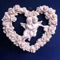 DECORATION ANGE A SUSPENDRE : COEUR DES ANGES
