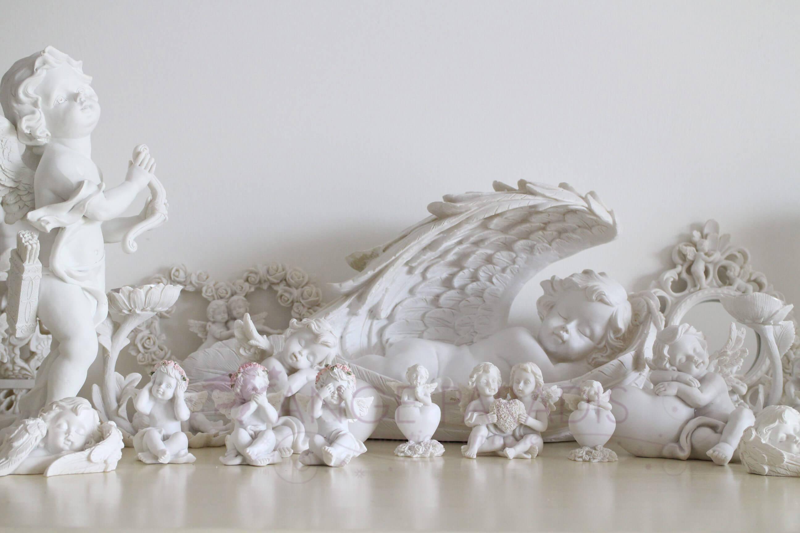 Cadeaux avec anges en blanc boutique de statues d 39 anges for Sujet de decoration de jardin