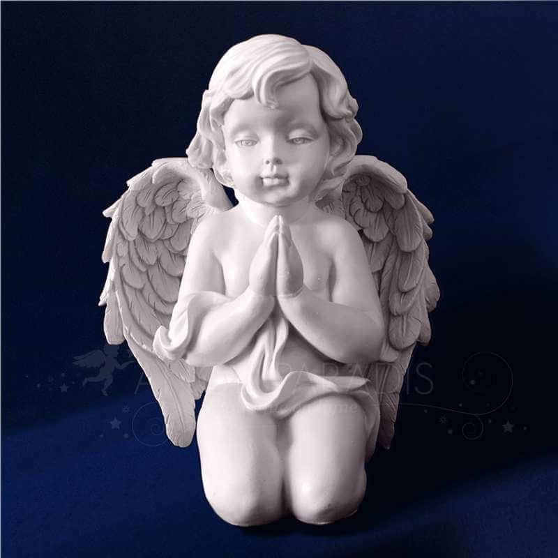 Statue ange pri re ange fun raire pour cimeti re tombe for Statue vierge marie pour exterieur