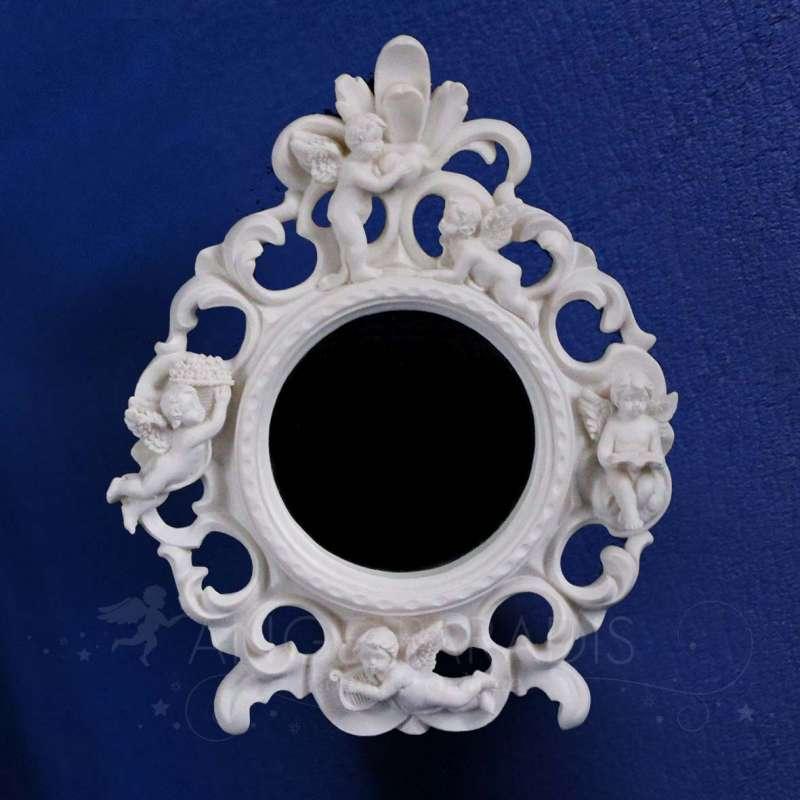 Miroir ange rond d coration avec anges boutique o for Acheter un miroir