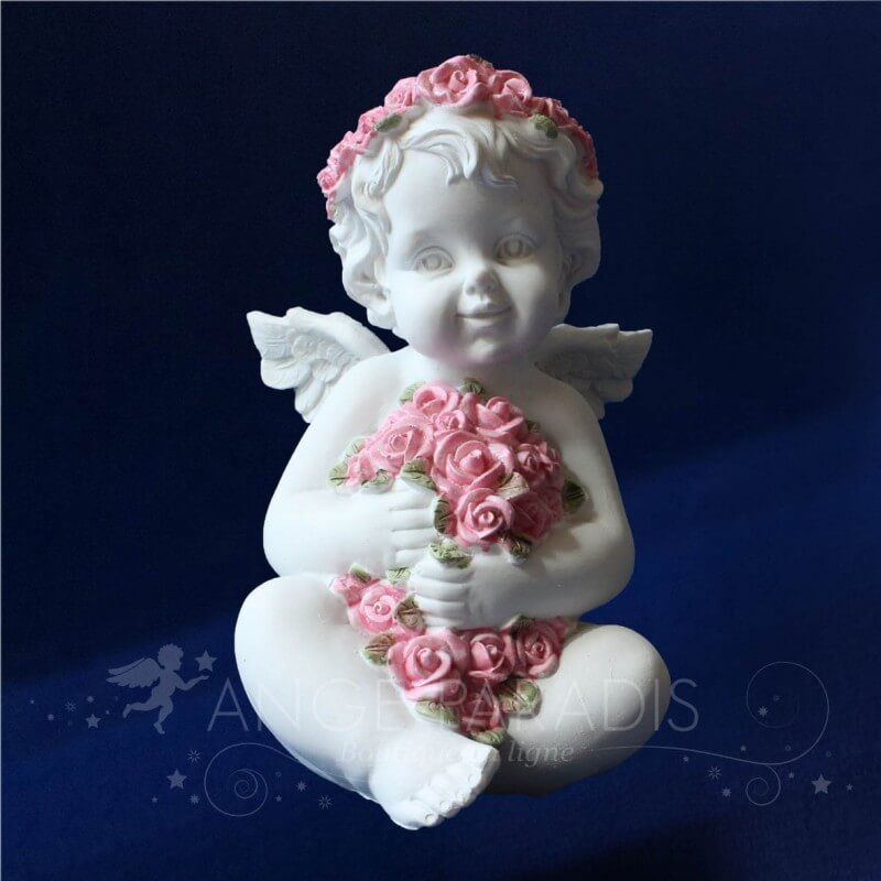 Anges avec des roses d coration ang lique angelots for Decoration avec des roses