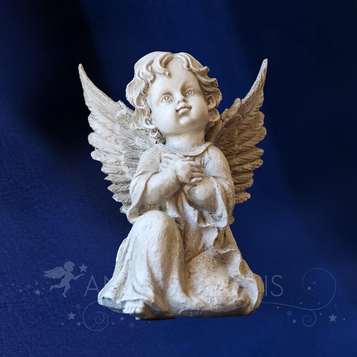 Statue ange blanc gris statuettes anges pour ext rieur statue ange - Statue d ange pour exterieur ...