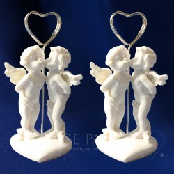 2 PORTE NOMS ANGES DECORATIFS