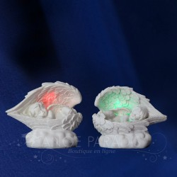 2 FIGURINES ANGES LUMINEUX APAISANT