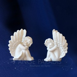 2 FIGURINES ANGES ASSOUPIES