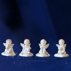 4 FIGURINES ANGES POUR TABLE