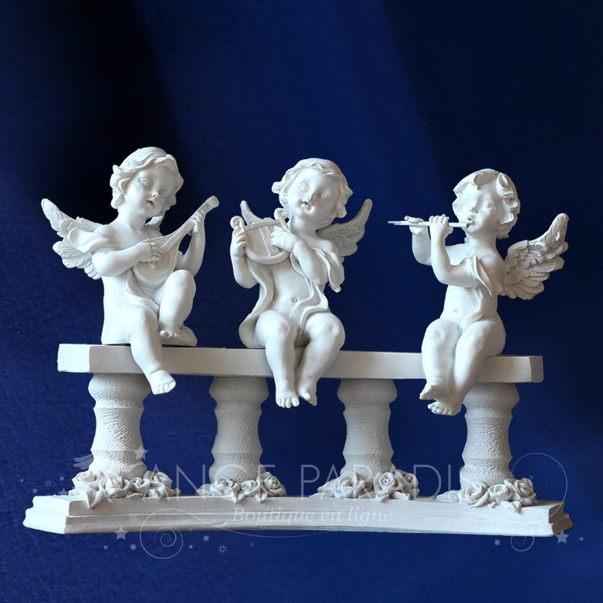 STATUETTE ANGES MUSICIEN COLONNADE