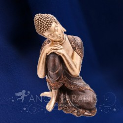 STATUE BOUDDHA 30 CM MARRON ET OR