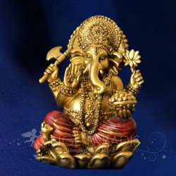 STATUE GANESH ROUGE