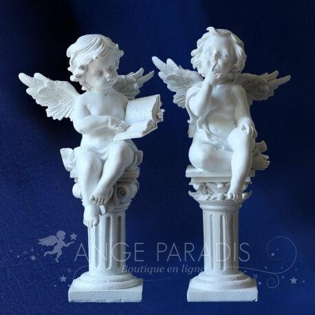 statues anges grande taille blanc résine statuettes anges grand