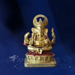 STATUETTE GANESH ROUGE 14CM TRADITIONNEL