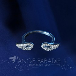 BAGUE AILES ANGE STYLE ARGENT