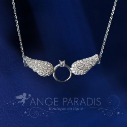 COLLER AILE ANGE STYLE ARGENT