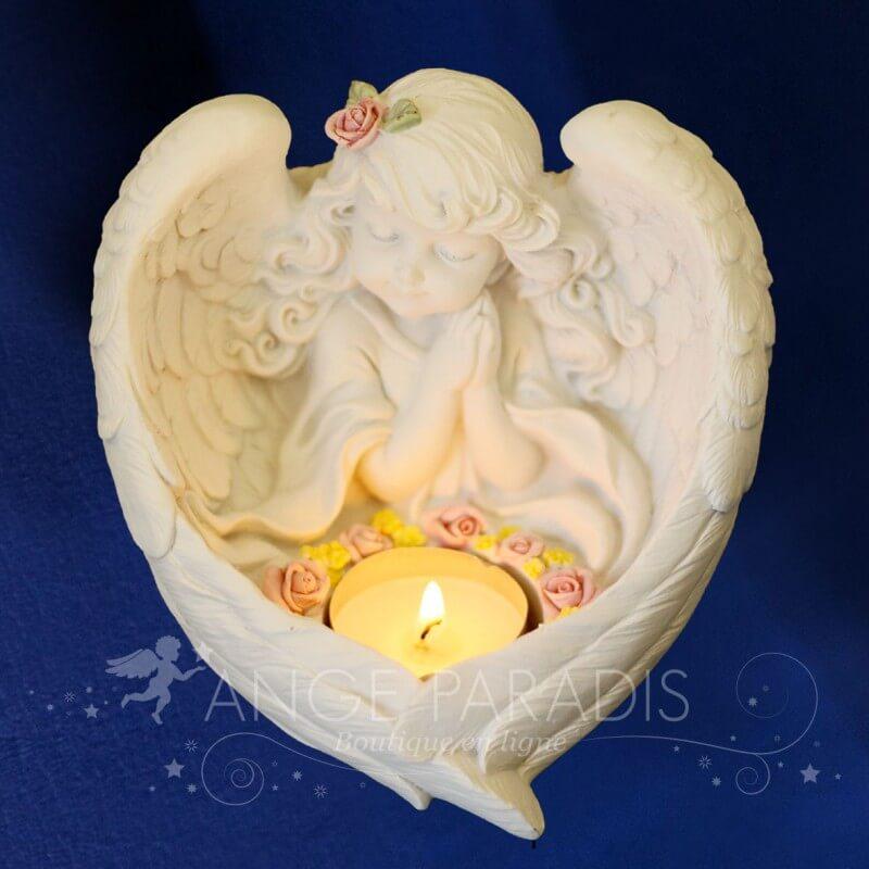 bougeoirs bougies avec des anges d coration spirituelle mystique. Black Bedroom Furniture Sets. Home Design Ideas