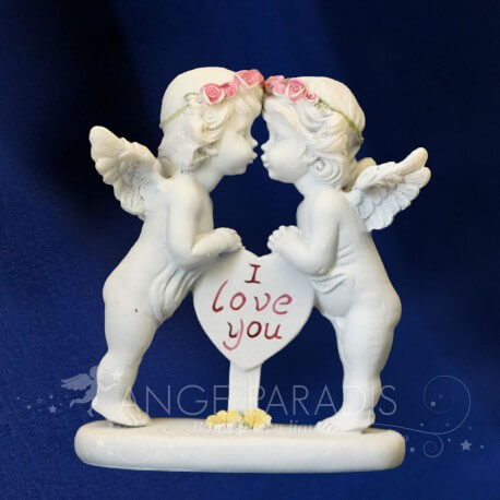 "FIGURINE ANGE ""I LOVE YOU"""