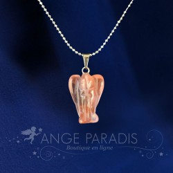 COLLIER ANGE GARDIEN QUARTZ ROSE