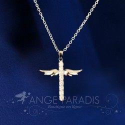 COLLIER AILES ANGE SOBRE & CHIC ARGENT