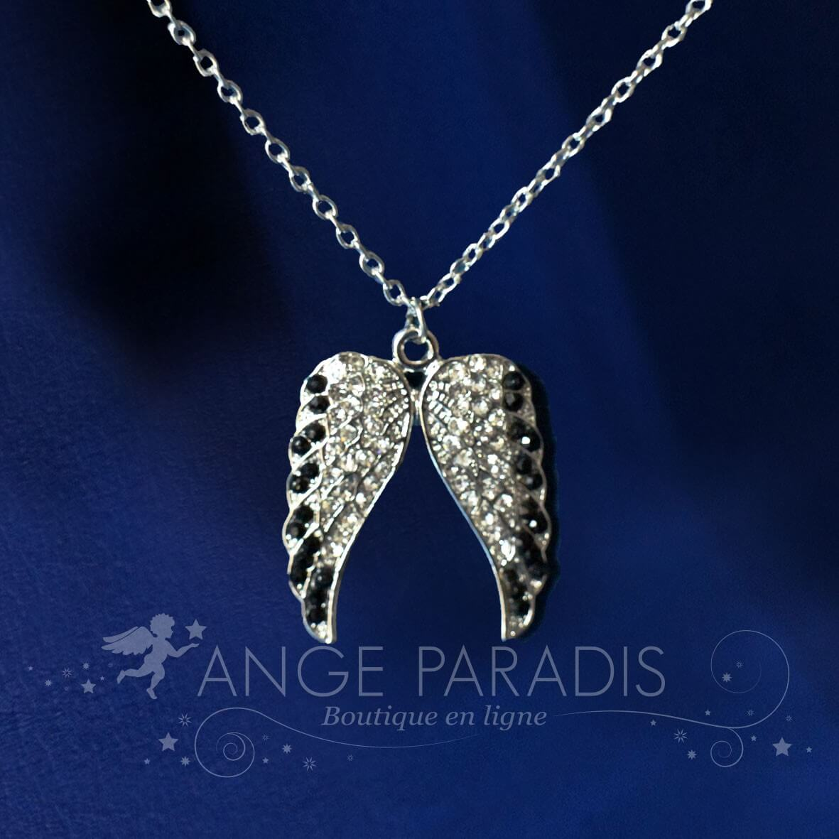 COLLIER AILE ANGES STEAMPUNK