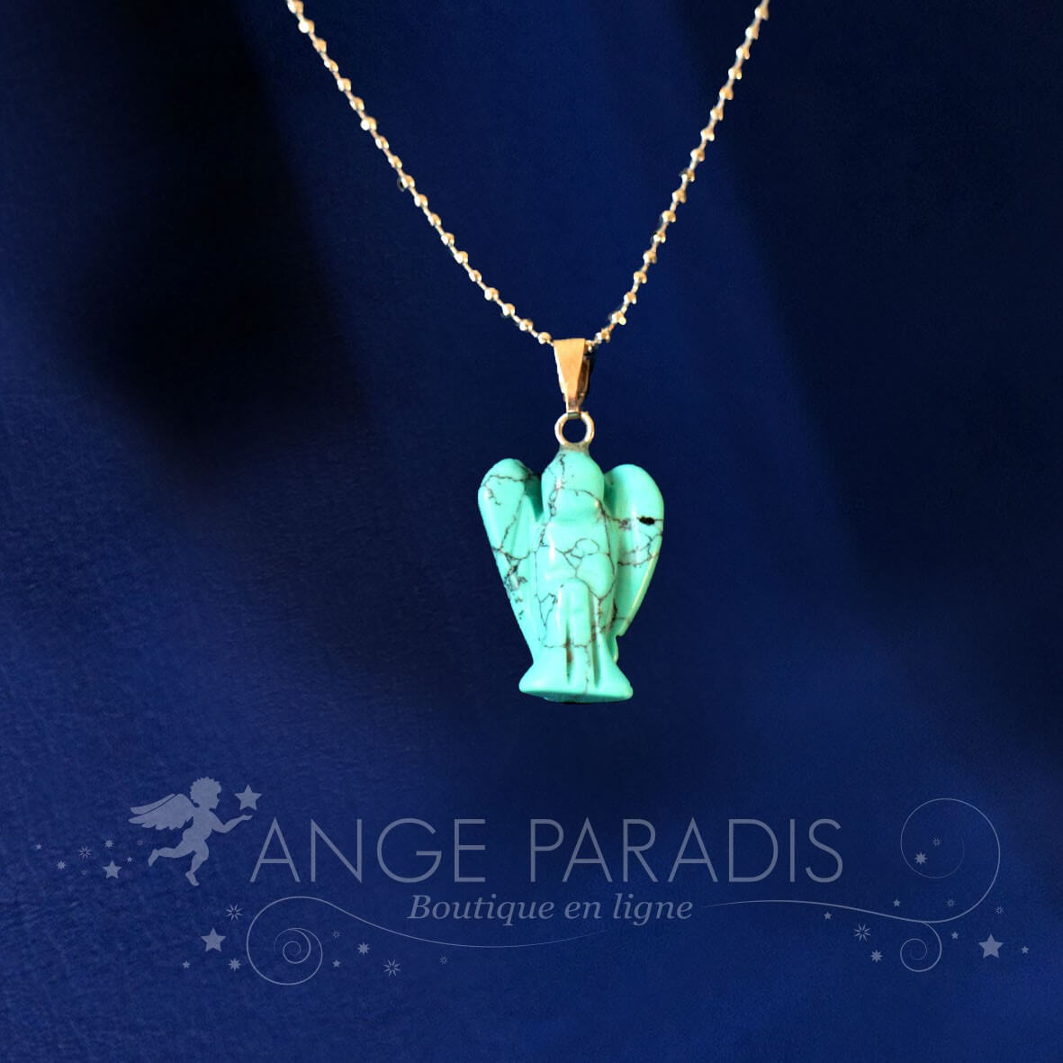 COLLIER ANGE GARDIEN TURQUOISE