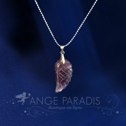 "COLLIER AILE ANGE ""Purple"" PARADIS"