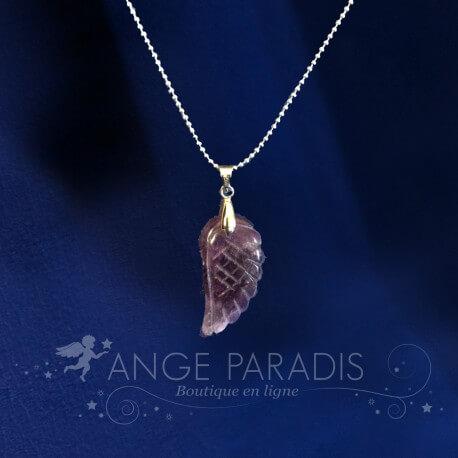"COLLIER AILE ANGE ""Purple"" PARADIS"