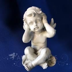 """STATUETTE ANGE SAGESSE 17 CM """"J'entends rien"""""""
