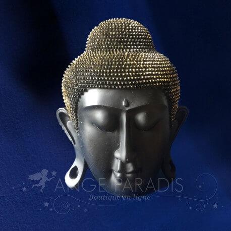 Tete Bouddha Black Or