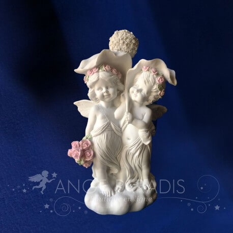 "2 ANGES AMOUREUX ""Figurine d'Amour"""