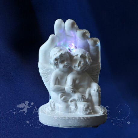 FIGURINE ANGE LED MAINS COUPLE