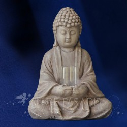 STATUETTE BOUDDHA BOUGEOIR CIMENT 28cm