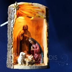 SCENE LUMINEUSE NAISSANCE JESUS CRECHE