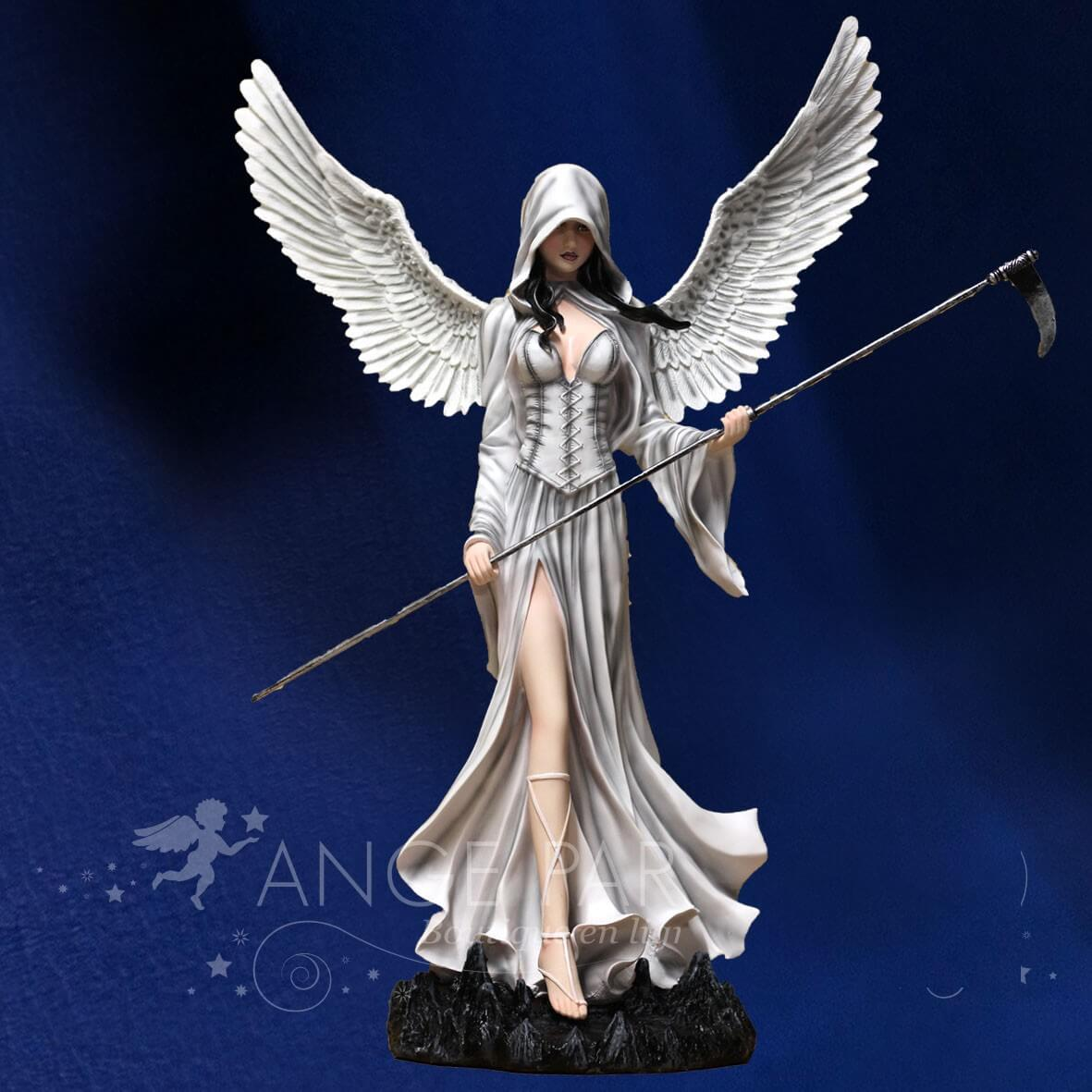 STATUE FEE ANGEL GEANT AVEC FAUX 61 CM