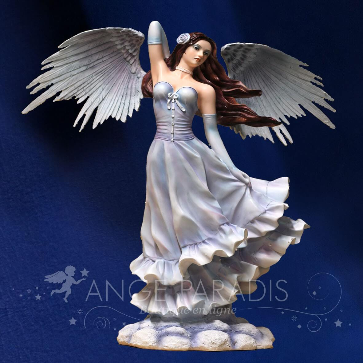 "STATUE FEE GEANTE ANGEL ""l'envol"" 55CM"