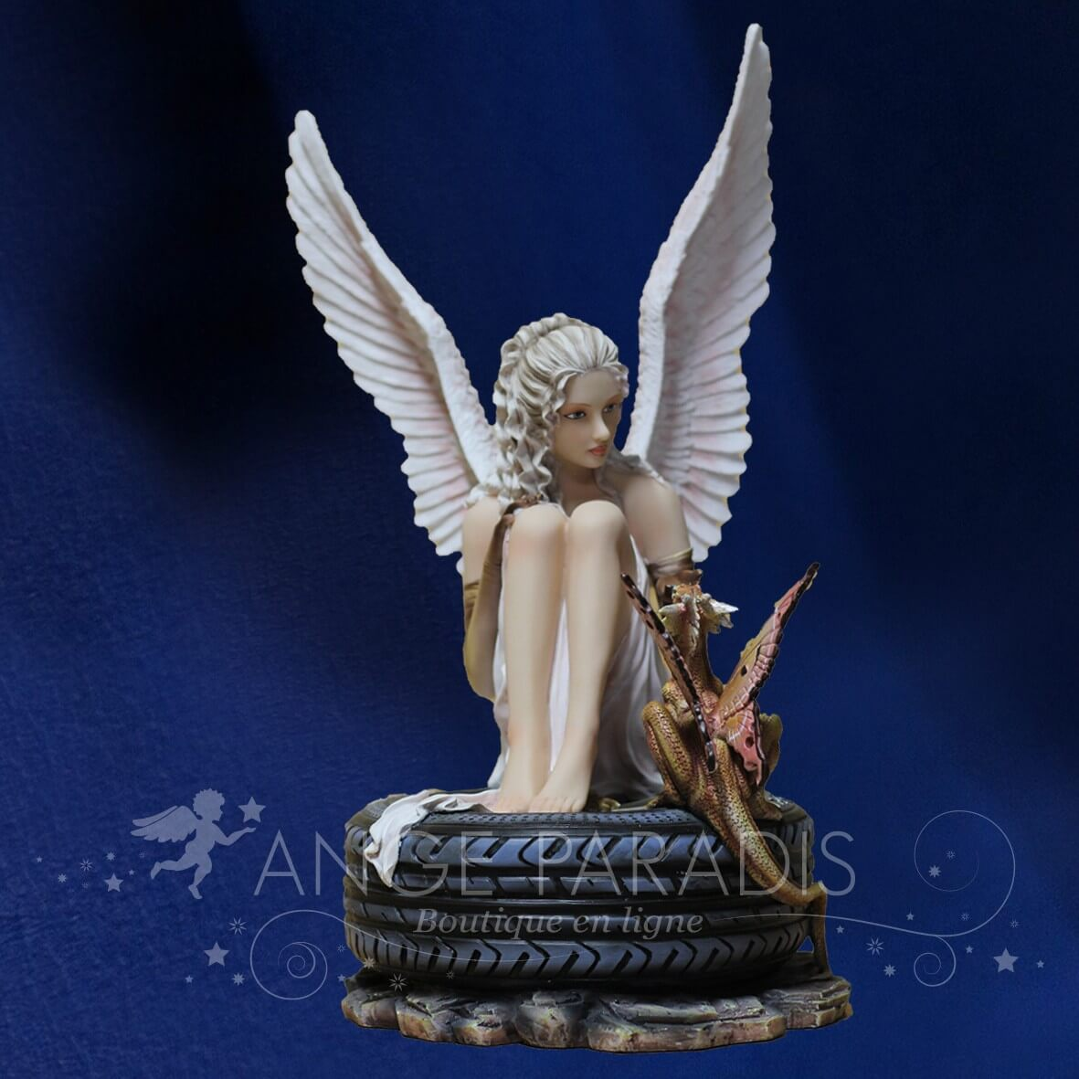 STATUETTE FEE ANGEL ROUTE DEMONS 44cm