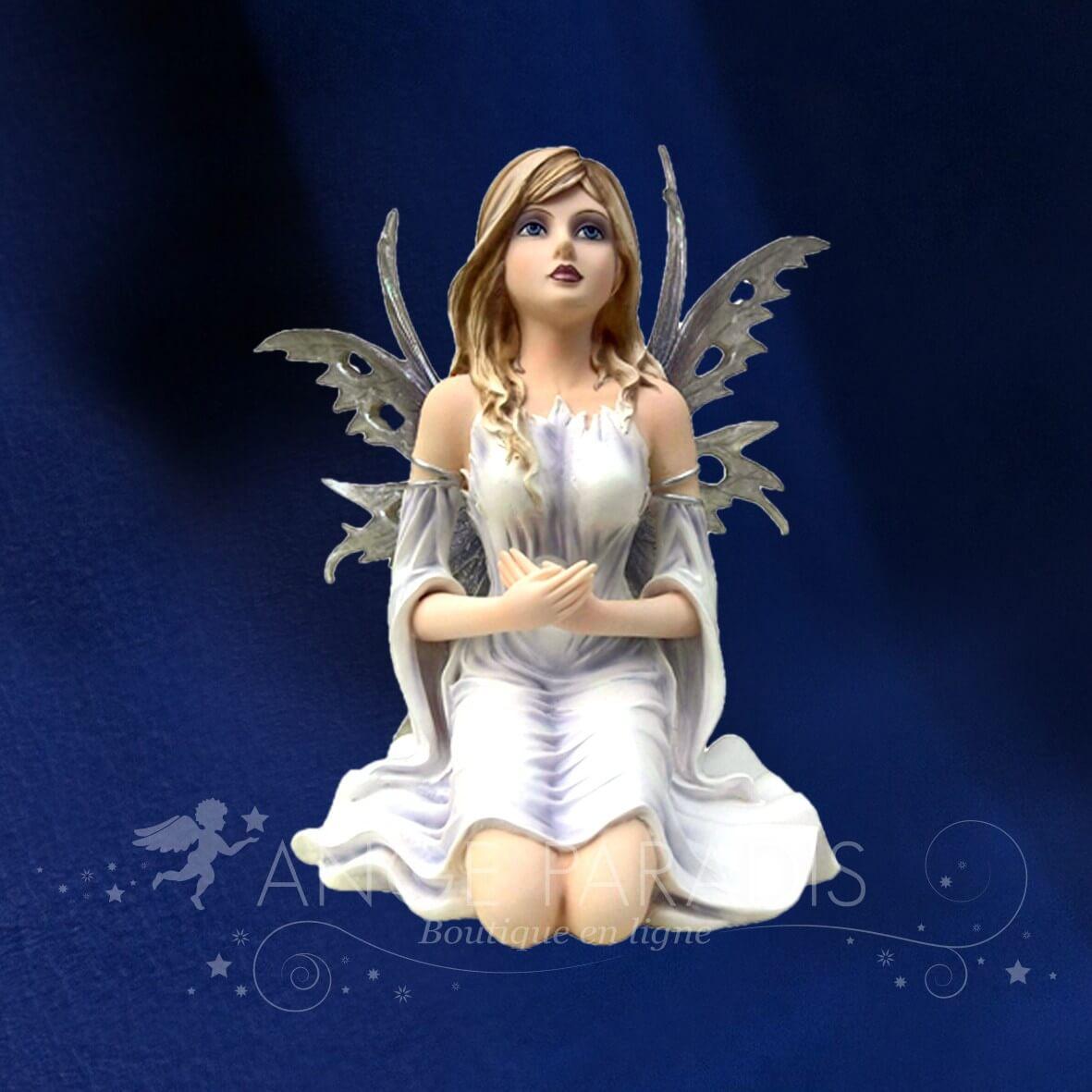 STATUETTE FEE ANGEL SAGE 29cm