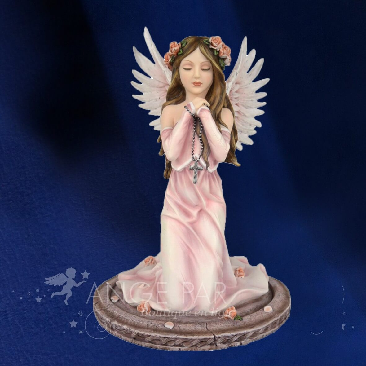 STATUETTE FEE ANGEL PRIERE 38cm