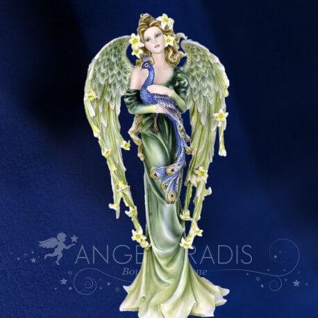 GRANDE STATUETTE FEE ANGEL ORCHIDEE 54CM