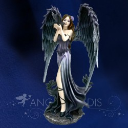 "FIGURINE FEE ANGEL GOTHIQUE "" DARK CHARMS"" 35cm"