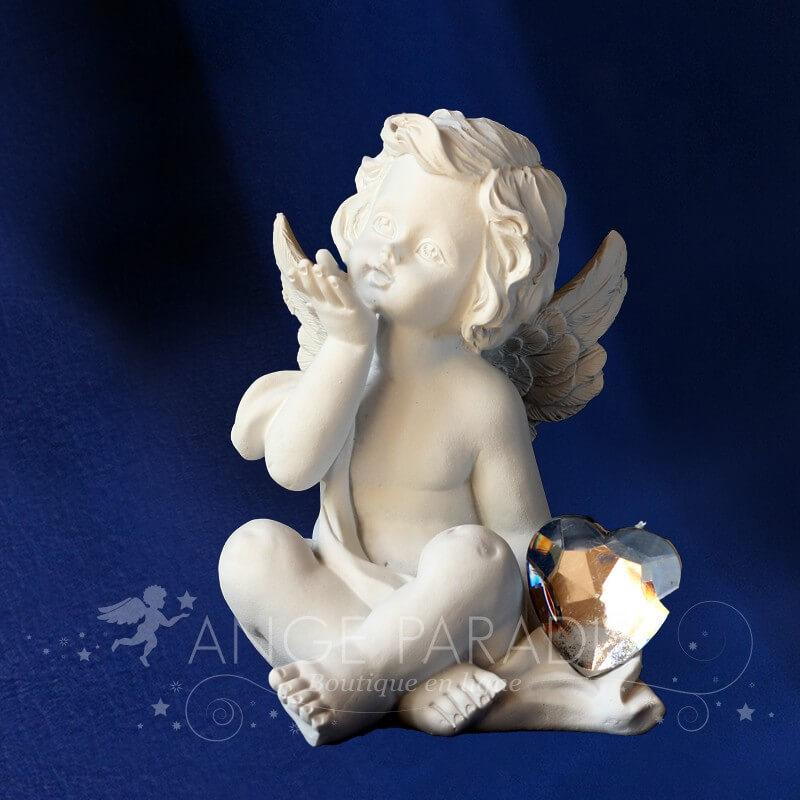 ANGE VOEUX COEUR DIAMANT - Figurine d'Ange