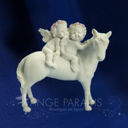 2 ANGES SUR UN CHEVAL