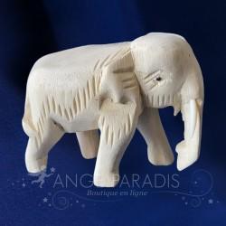 ELEPHANT EN BOIS ARTISANAL