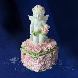 Boite & Figurine Ange Roses