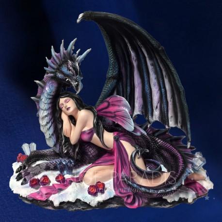 STATUETTE DE FEE avec dragon