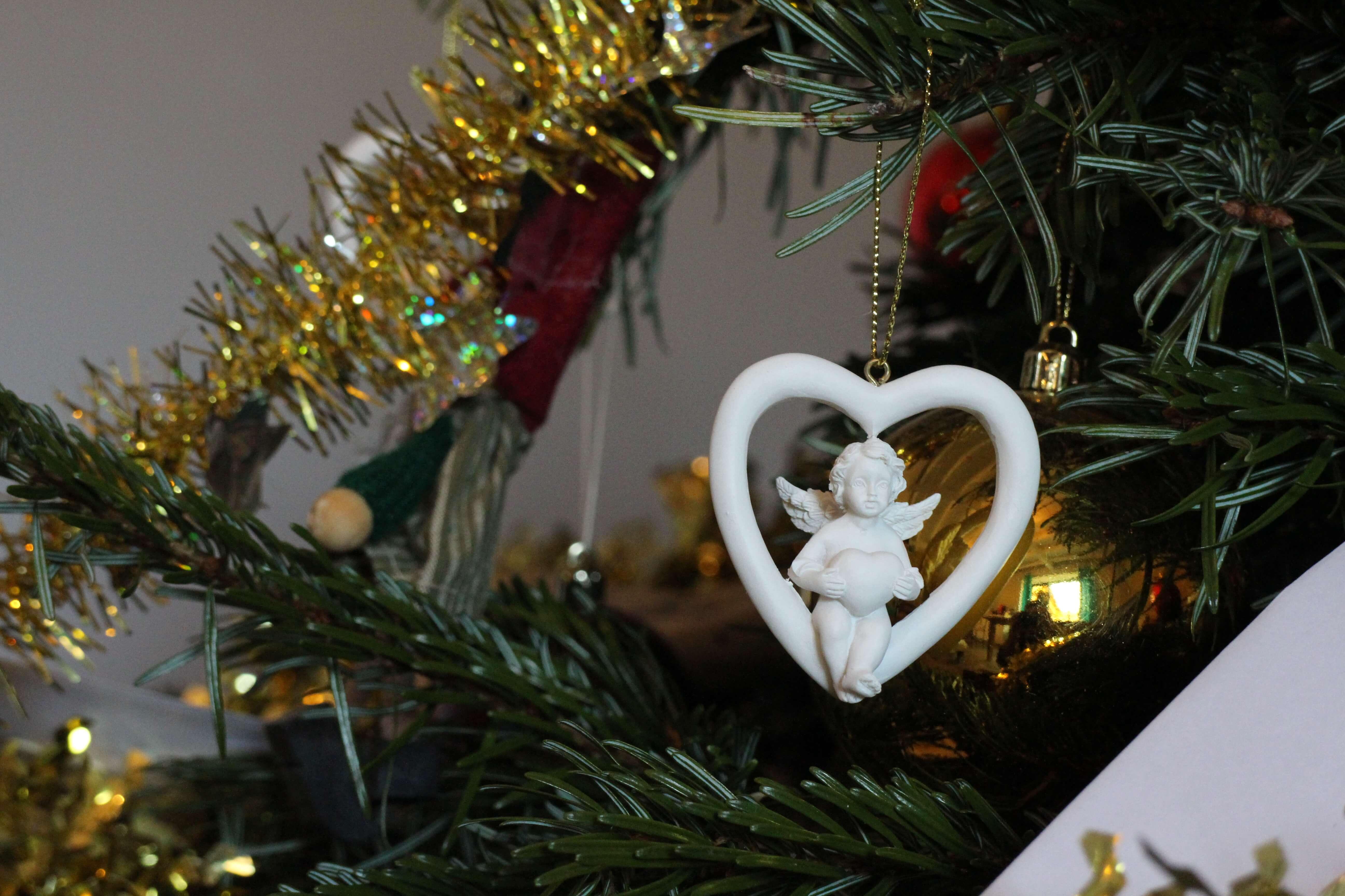 cadeau noel avec des anges