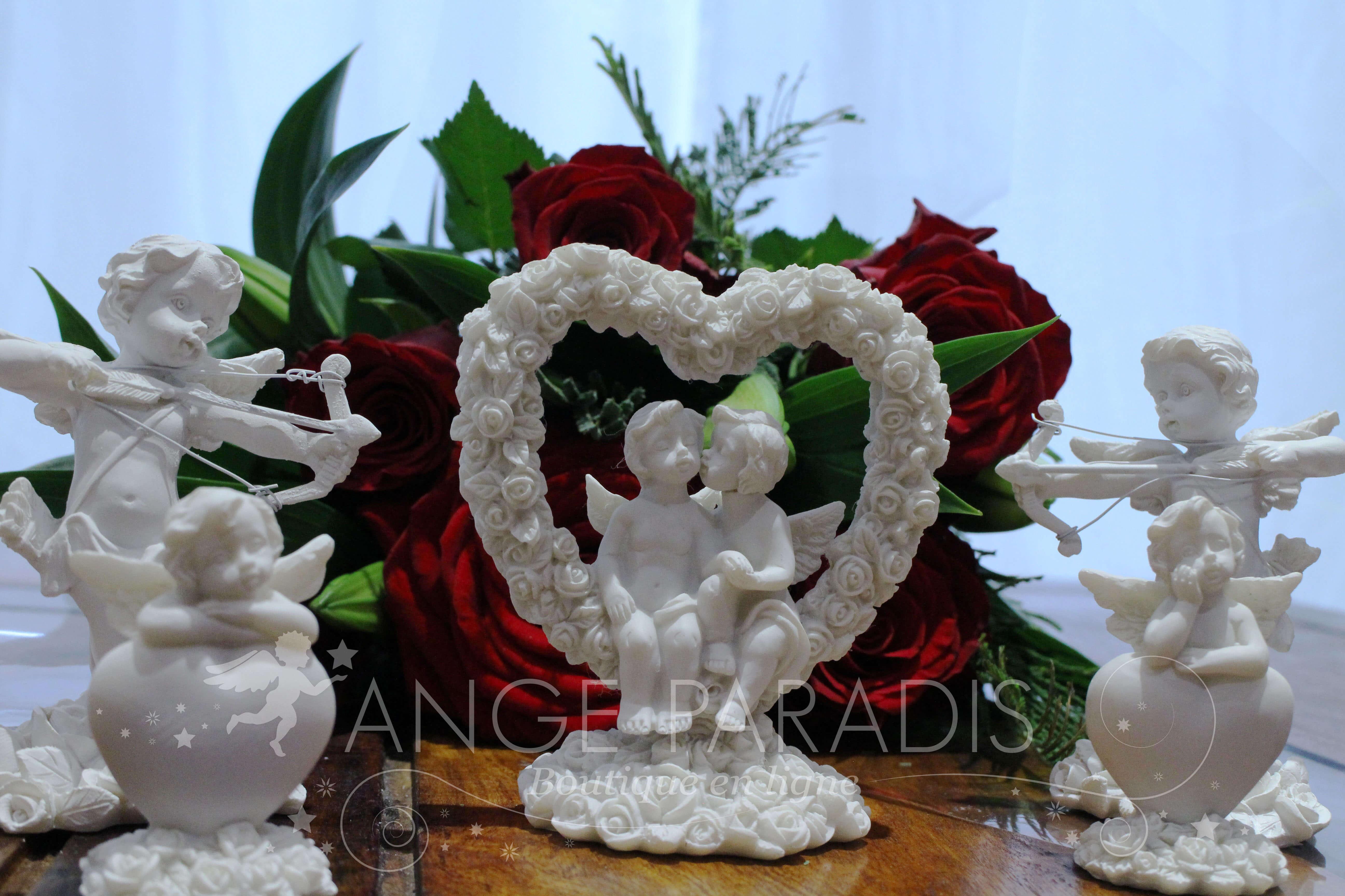 Cadeau anges pour la saint valentin d coration amour for Decoration porte st valentin